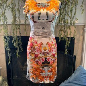 Mary C floral architectural silk dress 10